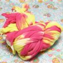 Two colours Specially dyed nylon, Nylon, pink, Yellow, 2.5m x 20cm, 1 piece, (SWW0386)